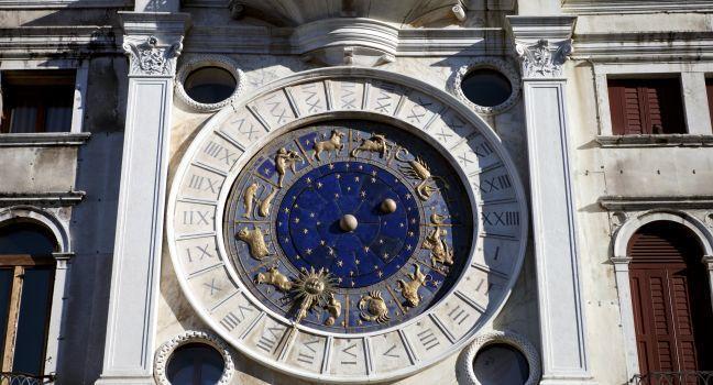 Torre dell'Orologio, San Marco, Venice, Italy.