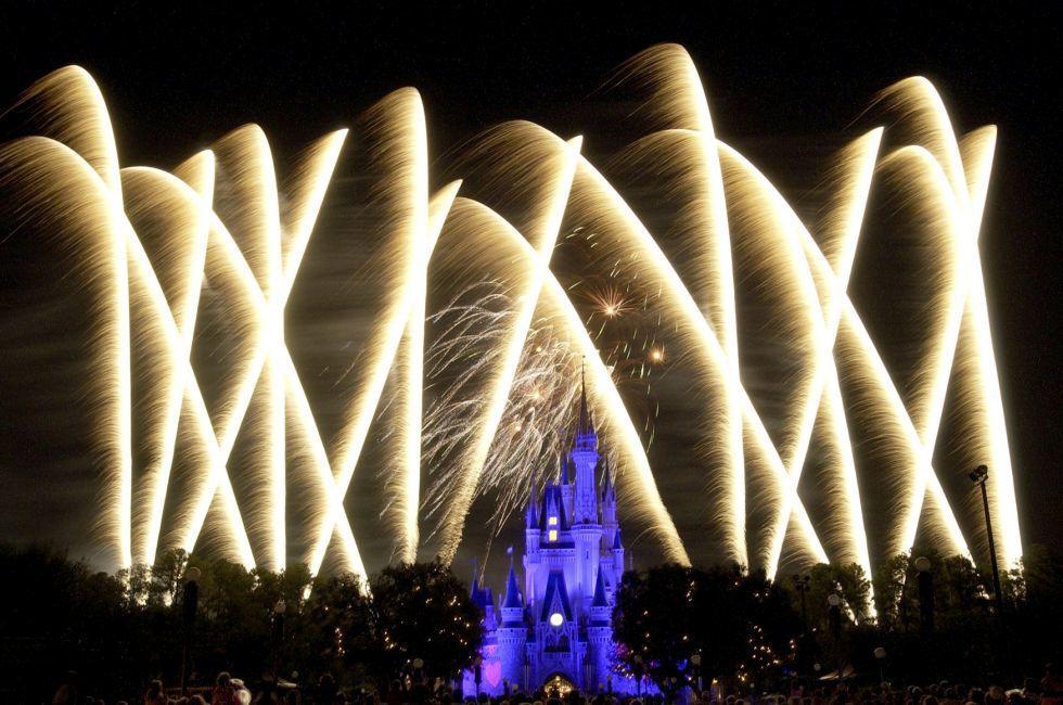 Fireworks, Magic Kingdom, Walt Disney World, Orlando, Florida, USA