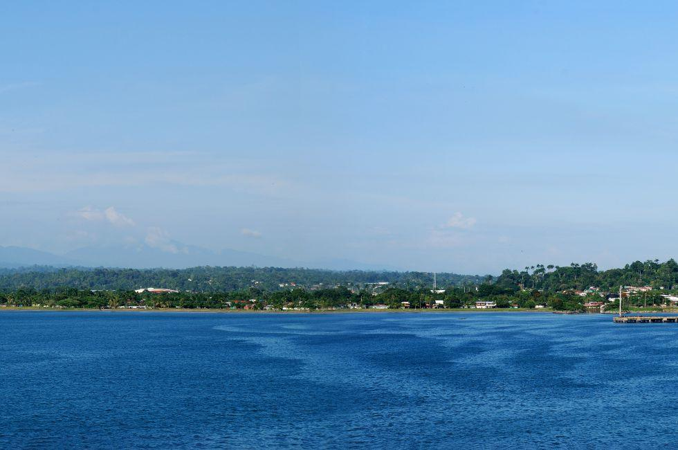Panorama, Cruise Ship, Port, Puerto Limon, Costa Rica
