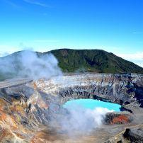 Crater, Lake, Poas Volcano, Costa Rica