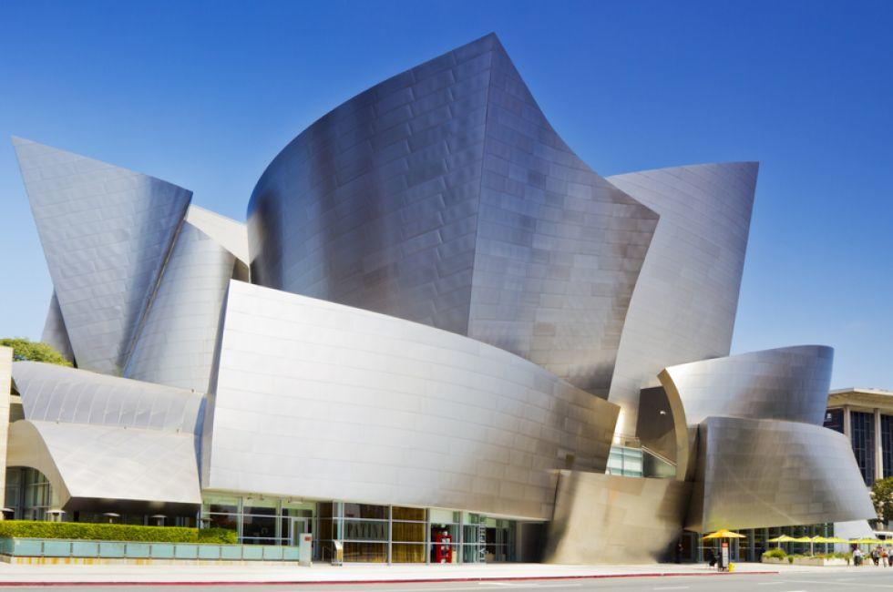 Walt Disney Concert Hall, Downtown Los Angeles,  Los Angeles, California, USA.