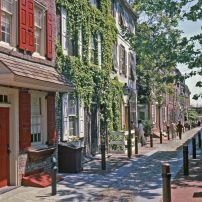 Elfreths Alley, Old City, Philadelphia, Pennsylvania, USA