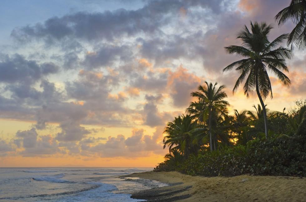 Beach, Sunrise, Vieques, Puerto Rico, Caribbean