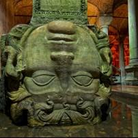 Medusa Head, Basilica Cistern, Istanbul, Turkey