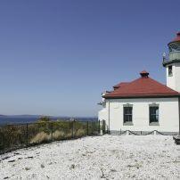 Lighthouse, Alki Point and Beach, Seattle, Washington, USA
