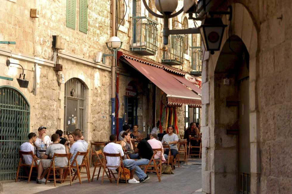 Cafe, Nahalat Shiva, Jerusalem, Israel
