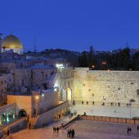 Night, The Western Wall,  Jerusalem, Israel