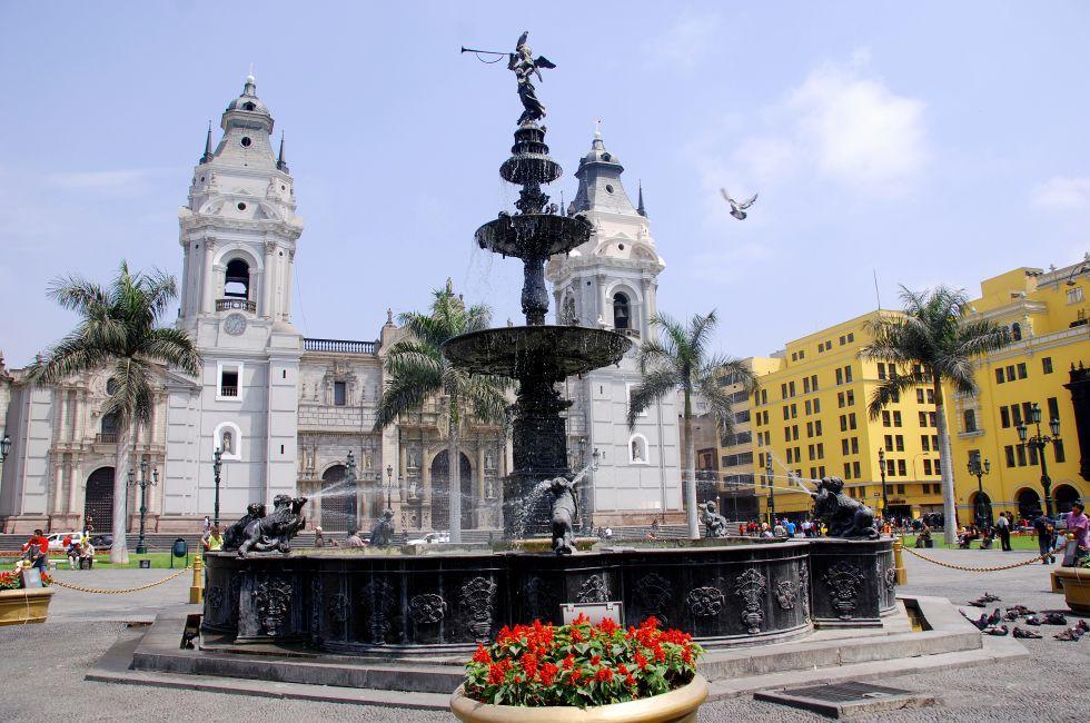 Cathedral, Plaza de Armas, Lima, Peru