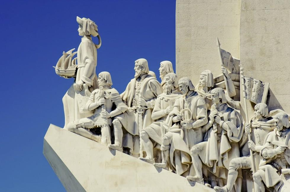 Statue, Monument to the Discoveries, Lisbon, Portugal