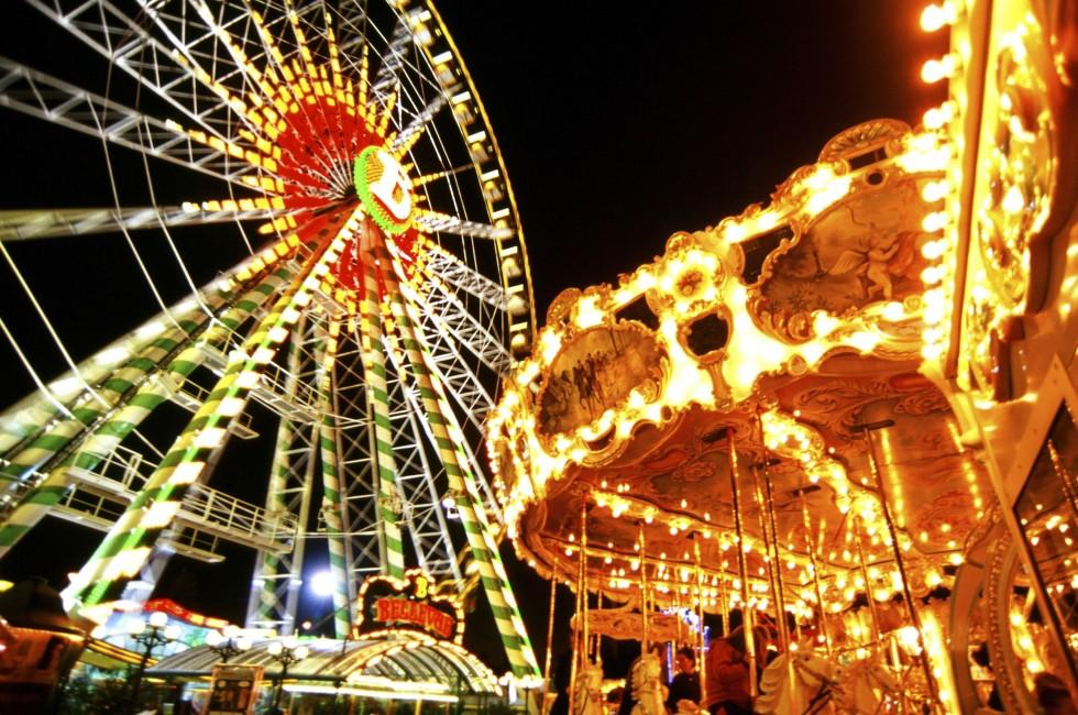 Ferris Wheel, Carousel, Schueberfouer, Luxembourg City, Luxembourg