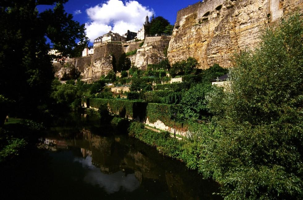 River, Cliff, House, Luxembourg
