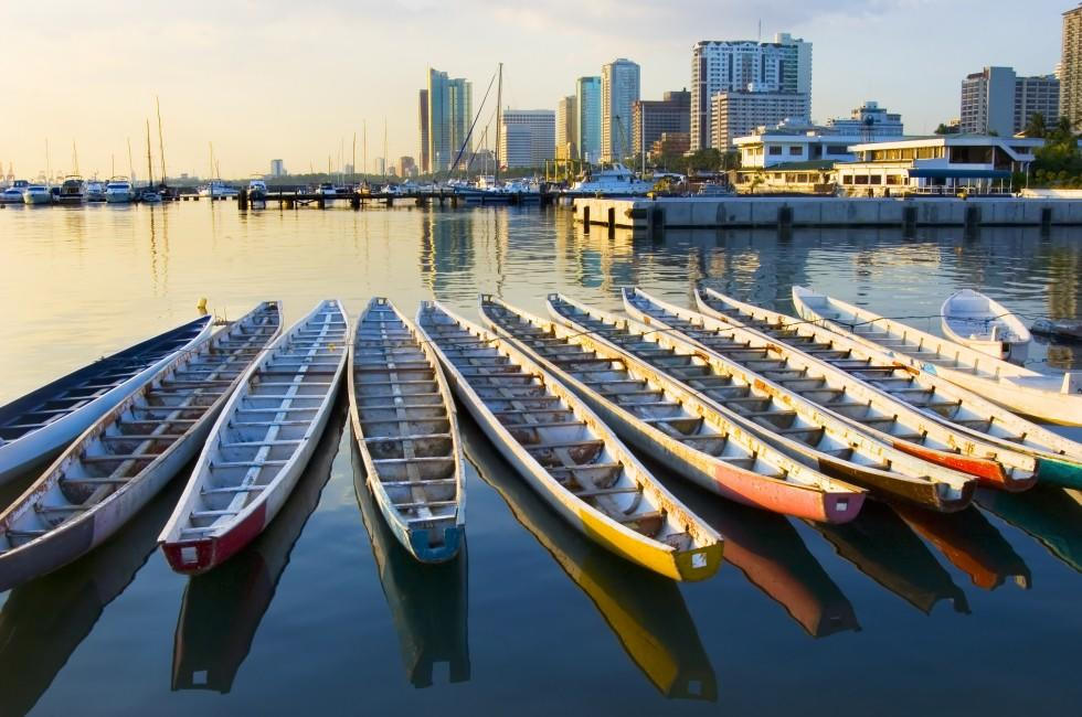 Dargon Boats, Manila Bay, Harbor, Philippines,