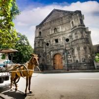 Horse, Carriage, Street, Malate Church, Manila, Philippines