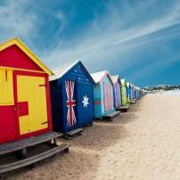 Bathing boxes, Brighton Beach, Melbourne, Australia