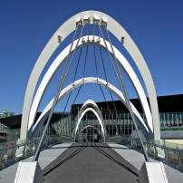 Foot bridge, Yarra River, Melbourne Convention and Exhibition Centre, Melbourne, Australia