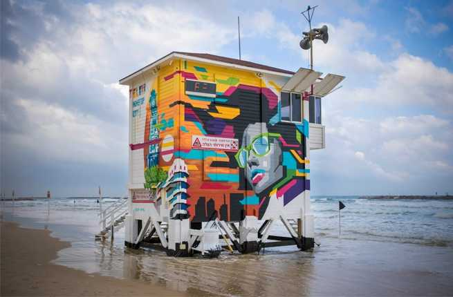 Lifeguard tower exterior