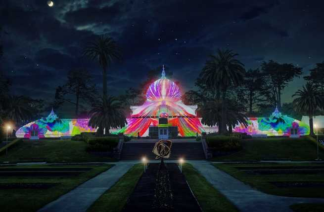 Psychedelic Illuminations Blanket San Francisco's Conservatory of Flowers