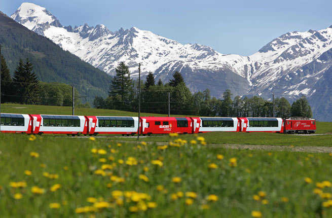Glacier Express from Zermatt to St. Moritz