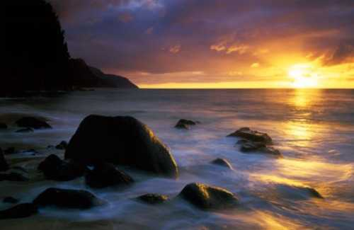 A Perfect Hawaiian Sunset