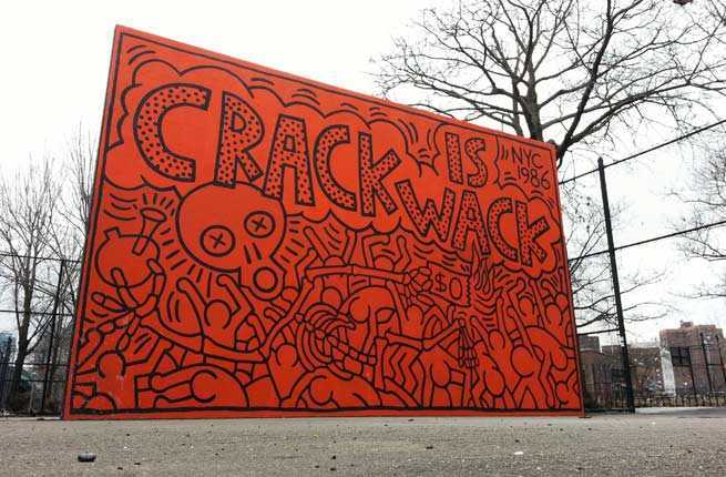 10 nyc art installations hidden in plain sight fodors for Crack is wack mural