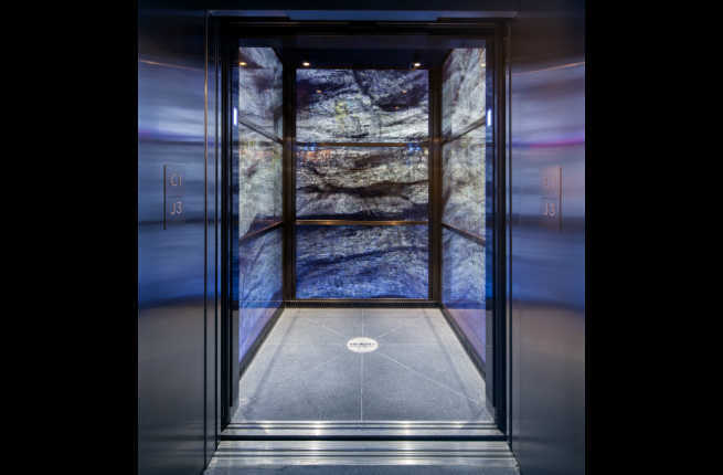 Elevator system in the world trade center