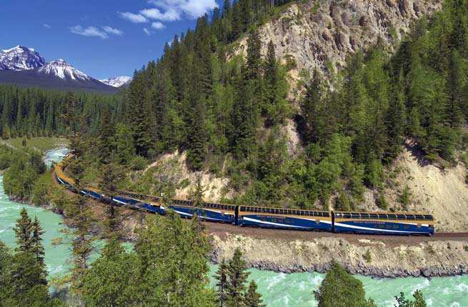 Rocky Mountaineer from Banff to Vancouver