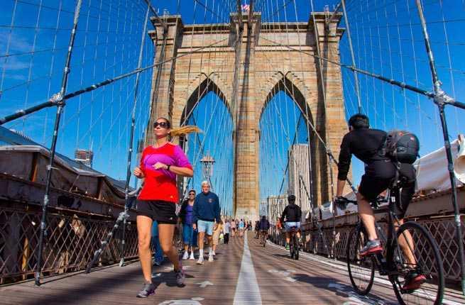 Cross the brooklyn bridge