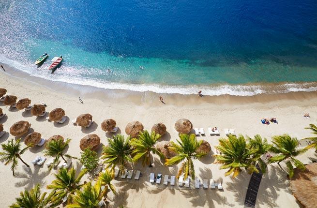 Soufriere beach