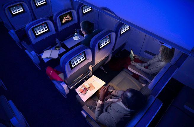 Delta Transcontinental flight
