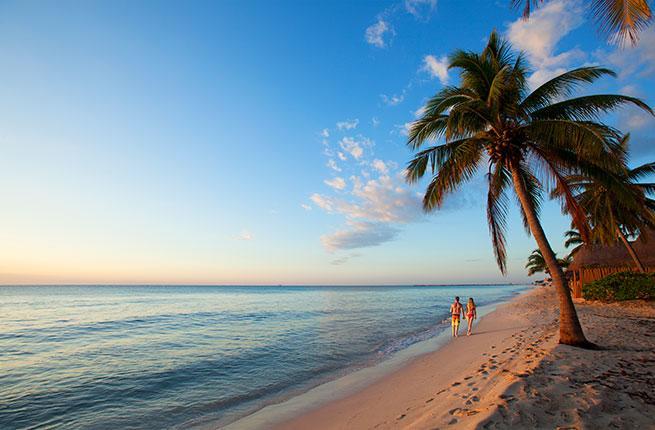 A beautiful beach on the Riviera Maya