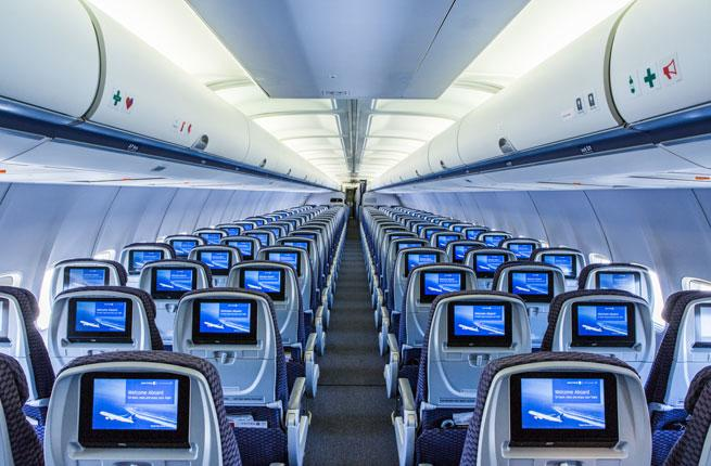 A United Premium Service Flight