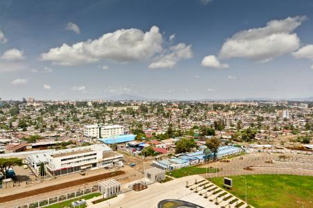 Addis Ababa aerial view