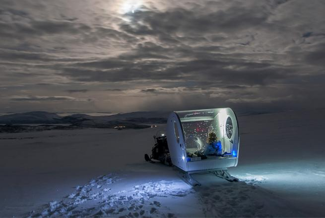 The Mobile Hotel Room Where You Sleep Under the Northern Lights