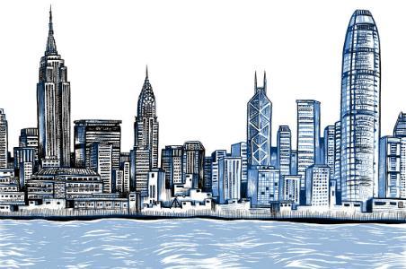 Hong Kong/New York illustration