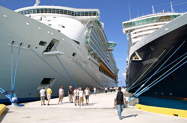 Disembarking The Cruise Ship