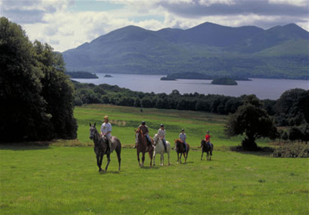 Horseback ride by the lakes