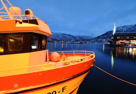 Tromso anchored ship