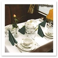 Dining Car of the Danube Express - Budapest to Berlin
