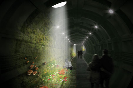 Mushroom Garden to Sprout in London Underground