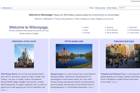 Wikipedia to Launch Travel Site Wikivoyage