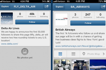 Travel Scam to Avoid: Fake Airline Instagrams