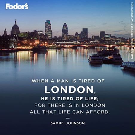 Travel Quote of the Week: On London