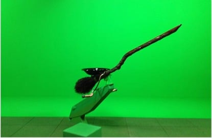 Harry Potter Studios green screen broom