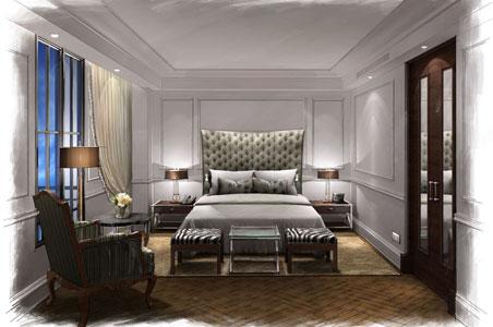 Posh new capella hotel opens in washington d c fodors for Posh bedroom designs