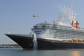 The Disney Dream Sets Sail