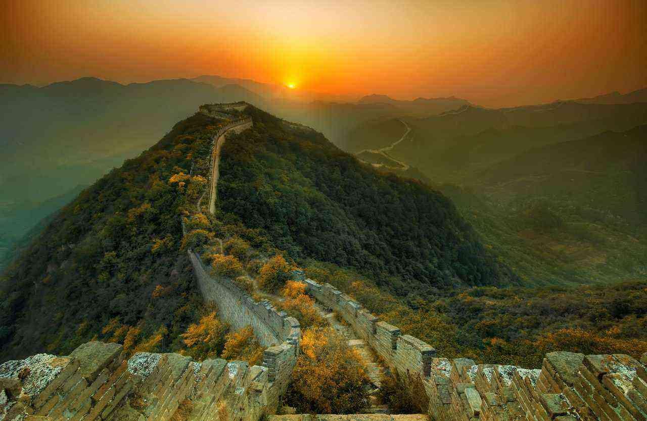 Great Wall at Sunset