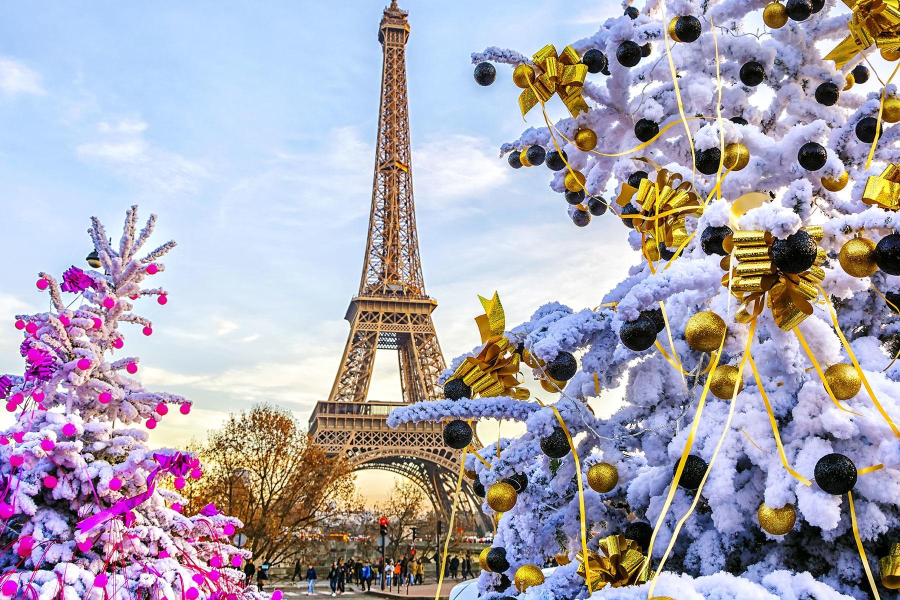 Париж красивая картинка зимой