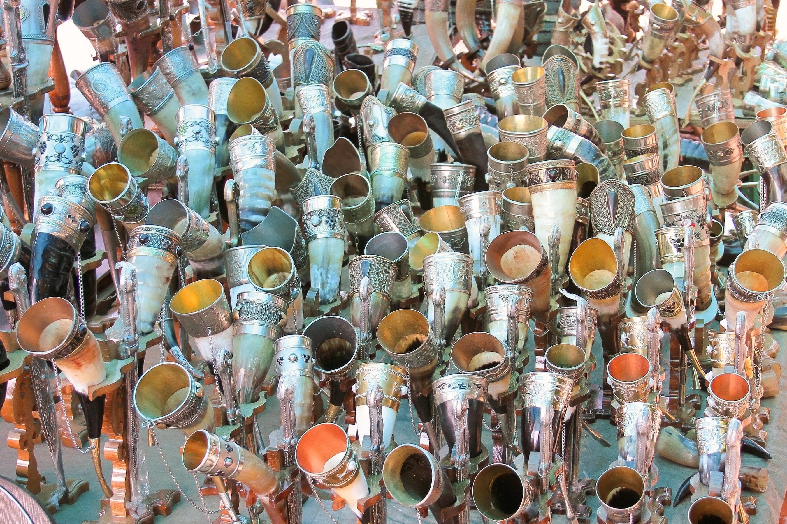 Wine Glasses Made of Horns