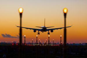 Plane Landing at Night