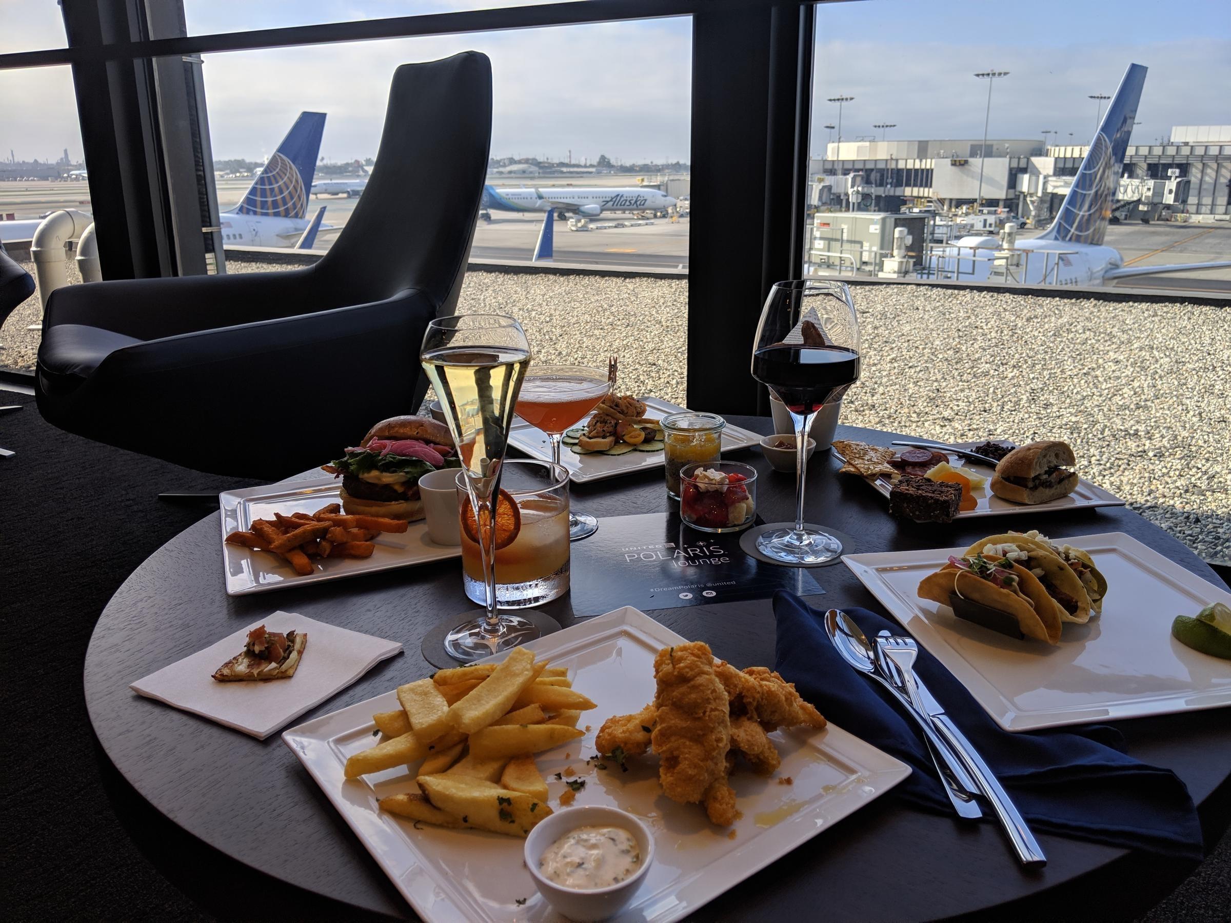 United Polaris Lounge Food